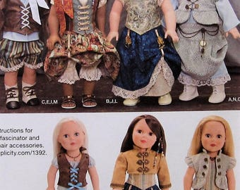 """18""""  Doll Clothes Sewing Pattern UNCUT Simplicity 1392 steampunk"""