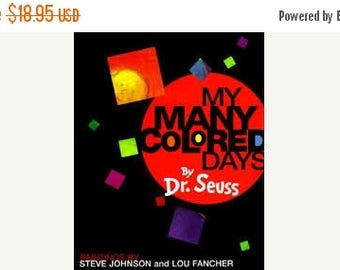 Dr Seuss--Many Colored Days--Book of Colors and Paintings--New Cond w jacket--RARE