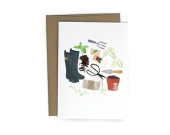 Garden Single A6 Card