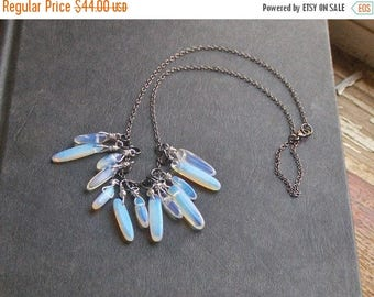 The Storm Opalite Fringe Necklace. Opalite Fringe Necklace. lucky 13 stones