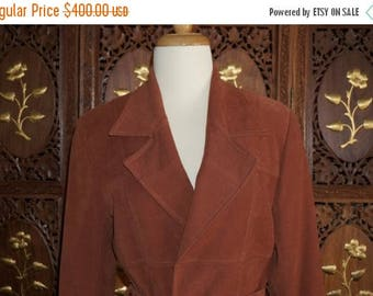 ON SALE 1970s BIBA Cocoa Brown Wrap Jacket