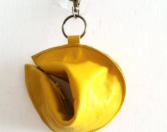 Fortune cookie wallet ,The Perfect Gift -Yellow