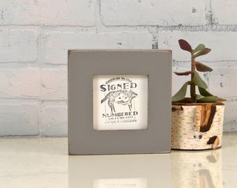 "4x4 Square Picture Frame in 1.5 inch Standard Style with Vintage Grey Finish - IN STOCK - Same Day Shipping - Frame 4 x 4"" Gray"