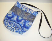 Sugar Glider, Bonding Pouch, Blue Paisley Fleece, Blue Fleece, Zipper Closure, Ventilation Screen, Small Animal Pouch, CooperStudios