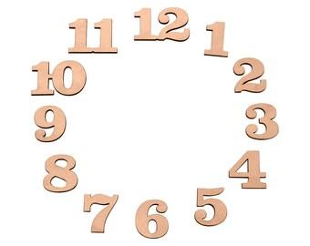 number set (1 inch Clarendon font) for clock