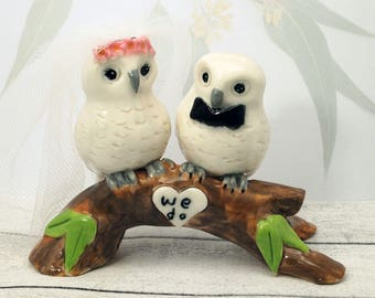 Owl wedding cake topper / bridal shower owl cake topper by Anita Reay / Woodland wedding or bridal shower ideas / owl lovers gift / owls
