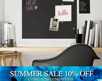Chalkboard Wall Decal, Chalkboard Square, Chalkboard Wall Square, Blackboard Wall Sticker