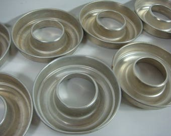 10 Aluminum Miniature Bundt Pans Jello Molds Ice Ring Molds Aluminum Baking Pans