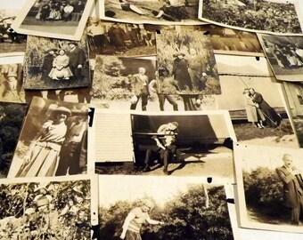 Sepia Photographs Set of 21