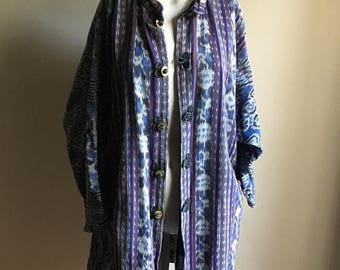 SUMMER SALE Rare 70s Cotton Free Size IKAT Jacket