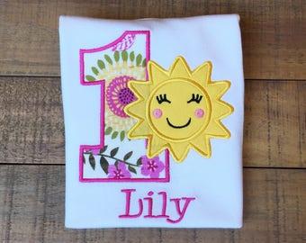 You Are My Sunshine Birthday Shirt - Sunshine Birthday Shirt - Sunshine Birthday Outfit - First Birthday Shirt
