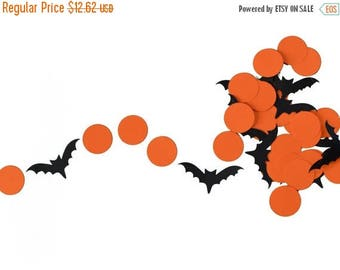 End of Summer Sale Orange and Black Halloween Bats Garland for Halloween Parties, Fall Classroom Decor, and More!