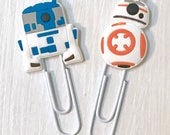 R2-D2 and BB-8 paperclips