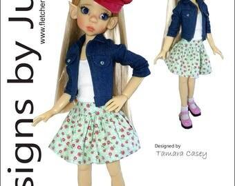 PDF Fashion Forward Pattern for 46cm Kaye Wiggs MSD BJD Dolls