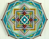 Eternal Spring, an all wool, 18 inch, 8-sided Ojo de Dios, by custom order