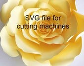 Paper flower template for cutting machines, SVG flower template, How to for Paper flowers, Paper Flower Templates, Silhouette, Cricut