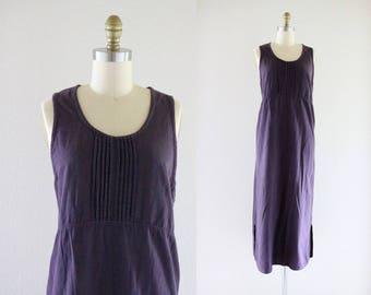 midnight purple jumper dress / m
