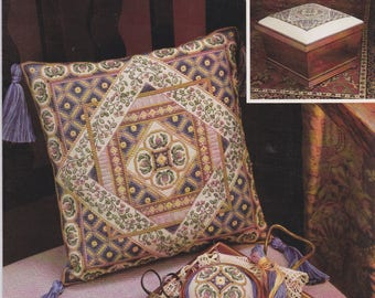 Diamonds In Squares 1993 Cross Stitch Pattern Leaflet by Teresa Wentzler Symbol of Excellence Publishers Just CrossStitch
