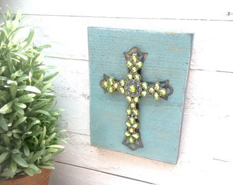 Rustic Sign with Cross