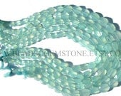 Gemstone Beads, Peruvian Chalcedony Faceted Oval (Quality AAA) / 7.5x9 to 8.5x10.5 mm / 36 cm / CHALCED-043