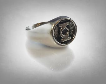Green Lantern Solid Sterling Silver 925 RING