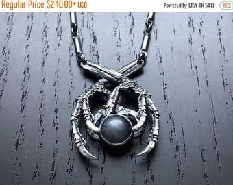 SALE Black Moon Necklace - Black Moonstone