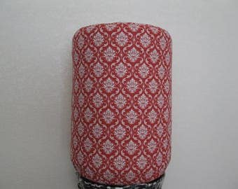Damask Dispenser Cover-Red and White Cooler decor
