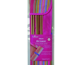 Clover Getaway Takumi Knitting Needle Gift Set 13 or 14 Inch Single Pointed Part No. 3620 DISCONTINUED