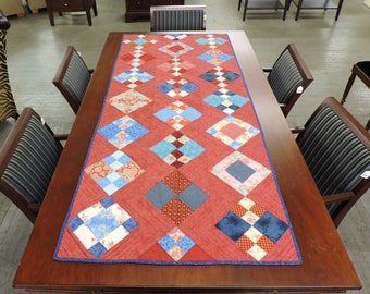 Red and Blue Bedrunner/Table Runner