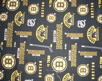 Boston Bruins Hockey-  Cotton Fabric - 14 1/2 inches wide and sold by the yard