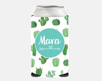 Bachelorette Party Favors Cactus Wedding Favors Cactus Bachelorette Favors Personalized Cactus Wedding Can Cooler Arrow Wedding Gift Cacti