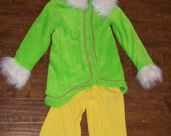 Buddy the Elf costume childs size 10/12 custom made ready to ship NEW