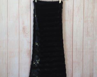 Vintage Black Formal Classy Soft and Furry Shawl Scarve Scarf Ladies Prom Wedding