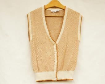Vintage 70s-80s Sweater Vest By Country Suburbans/Retro/Boho