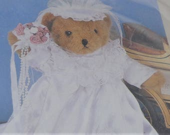 Bianca Bride Treasured Together Outfit, Wedding Outfit for Teddy, Bridal Dress for Doll, Bride Outfit for Teddy or Doll