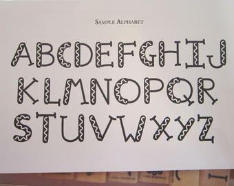 rubber stamps - ALPHABUILDERS alphabet builder stamps - Stampin Up 2001 - used rubber stamps