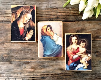 Vintage Florentine Wall Plaques / Trio of Florentine made in Italy Wooden Wall Plaques