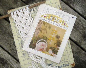 Macrame Pattern Book - Knotted Plant Hangers Pattern Book - Retro DIY Pot Hangers to Knot
