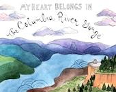 Columbia River Gorge Sticker