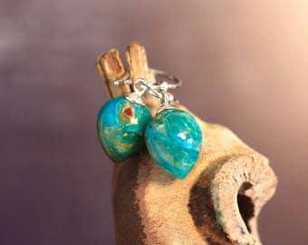 Opal Earrings Silver Earrings Artisan Jewelry Gift For Her Unbelievable Gemstone Unusual Jewelry Blue Earrings One of a Kind Special Present
