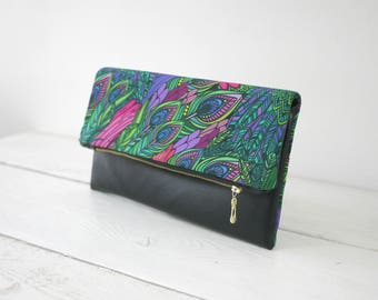 Peacock purse | Peacock clutch | wedding peacock handbag