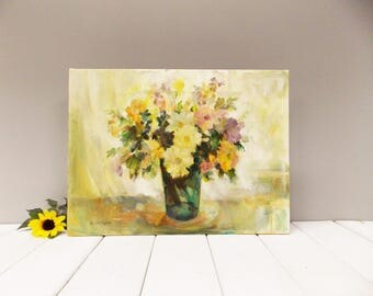 Original Oil Painting--- Flower Painting--- Floral-- Spring Summer