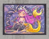 MerMay Day 20 - Original ACEO, watercolor painting