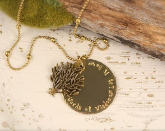 Tree Beatles Inspired Let It Be Necklace