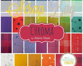 Chroma - by Alison Glass Scrap Bag Quilt Fabric Strips Remnants (AG.CH.SB)