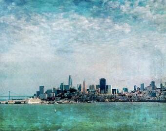 San Francisco Abstract Art Fine art photography digital artwork  Beach Artwork large artwork city skyline art