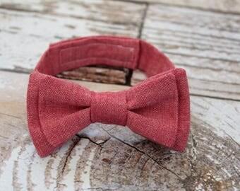 Toddler bow tie - boys bowtie - adjustable strap - red- strawberry- picnic - summer - wedding - baby shower gift - boys - modern