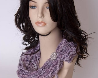 Infinity Scarf, Artfully Simple Infinity Scarf, Crochet Infinity Scarf, Neck Warmer, Cowl, Women's Accessory, Gift, Handmade Scarf