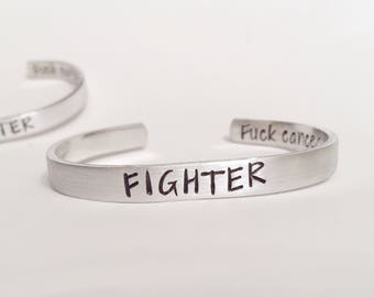 Fighter Bracelet, Fighter, Warrior, Be Strong, Bad Ass, Cancer Bracelet, Cancer Fighter, Survivor, Cancer Sucks, Fuck Cancer, Strength, Can