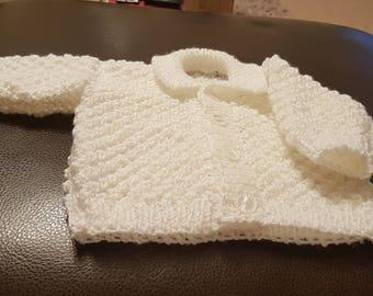 White Sparkle Bobble Baby Jacket